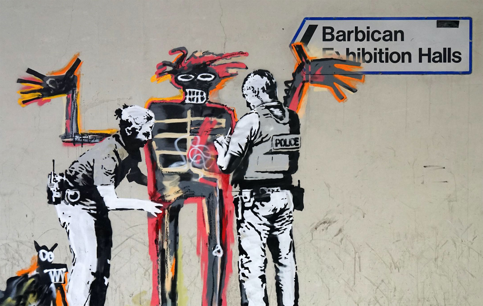 Unofficial Collaboration Between Banksy & Basquiat (6 pics)