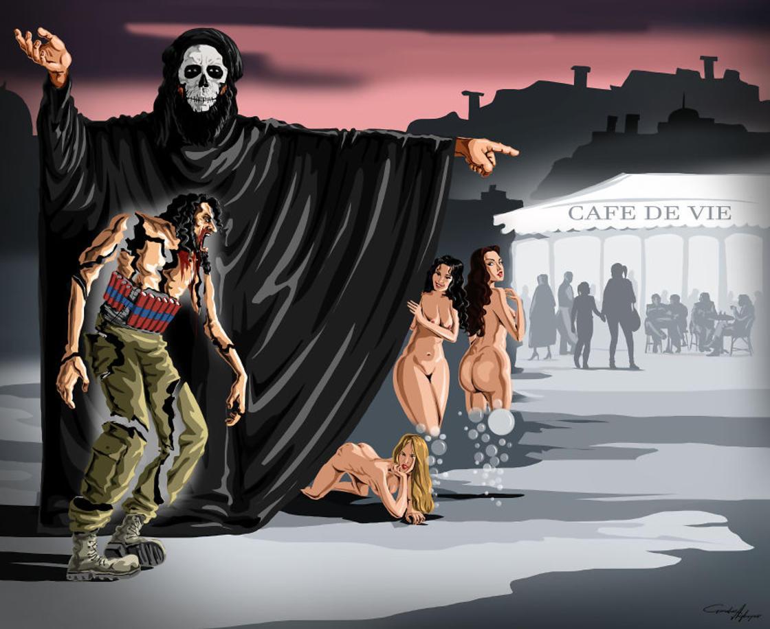 Sad World – Les nouvelles illustrations satiriques de Gunduz Agayev