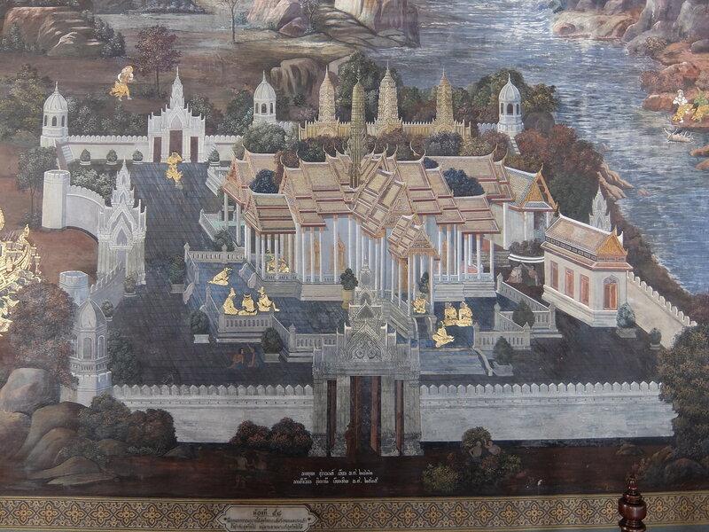 Бангкок - Древний храм в росписи