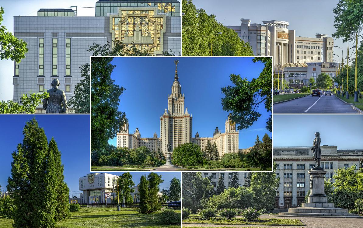 Самые красивые места Москвы: МГУ