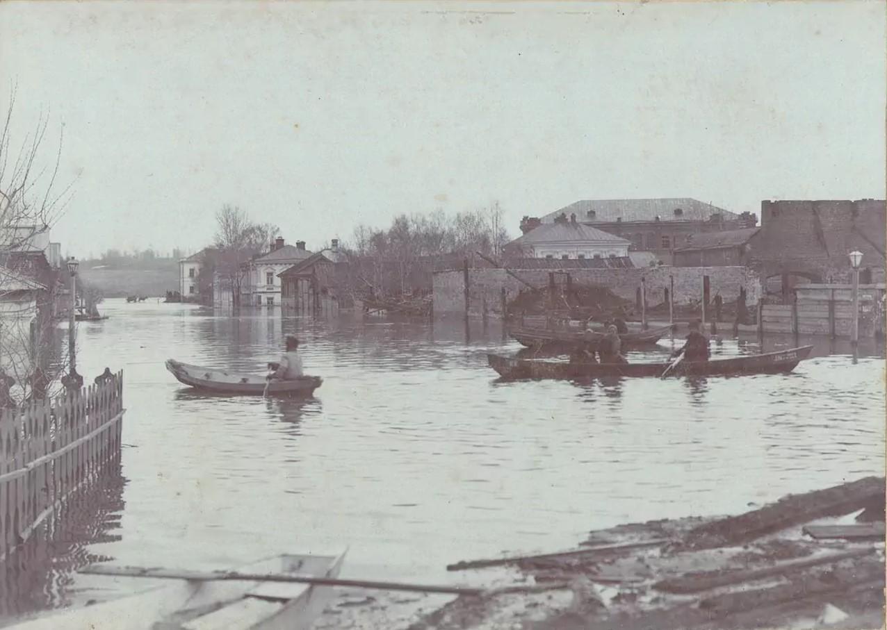 Наводнение 1902. Улица Хлебниковская