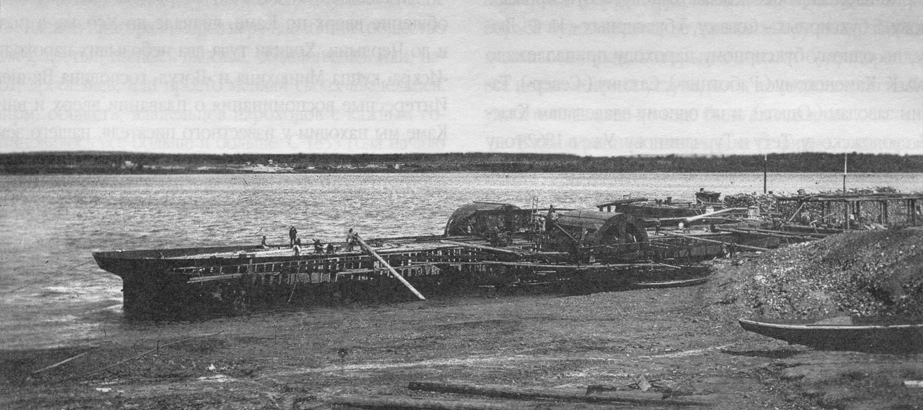 Строительство парохода