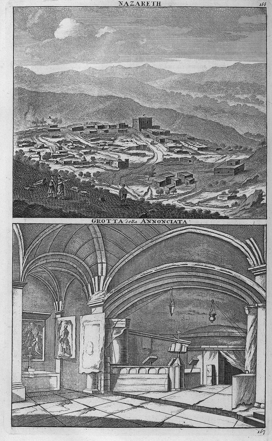 Путешествие из Акко в Назарет. Вид Назарета. Пещера Благовещения