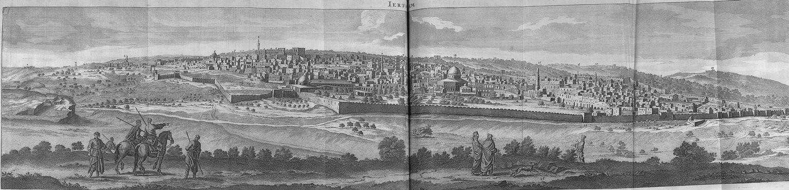Путешествие из Вифлеема в Иерусалим. Панорама Иерусалима