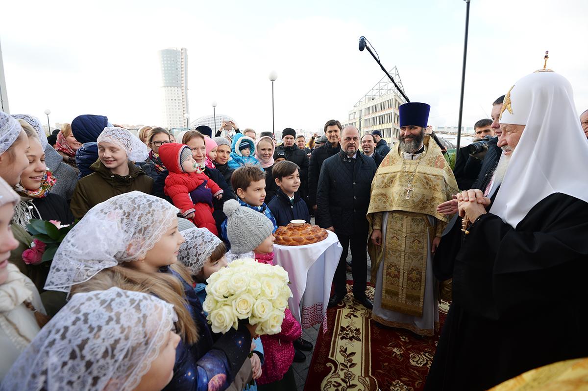 Патриарх Кирилл освятил храм преподобного Сергия Радонежского 22 окт, 2017, Москва(2)