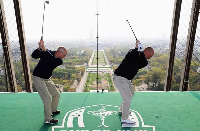 площадка для гольфа на Эйфелевой башне