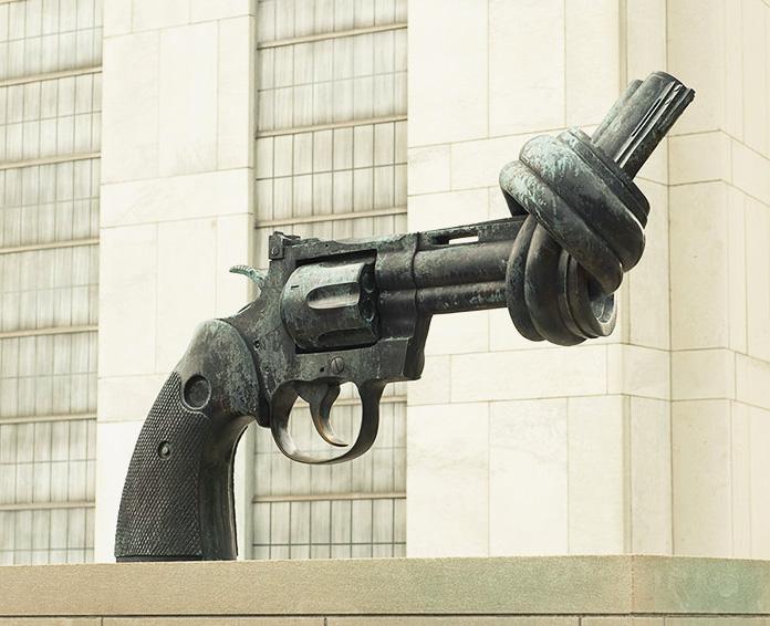 Прорыв, Филадельфия, США   Скульптура о борьбе за достижение свободы через твор