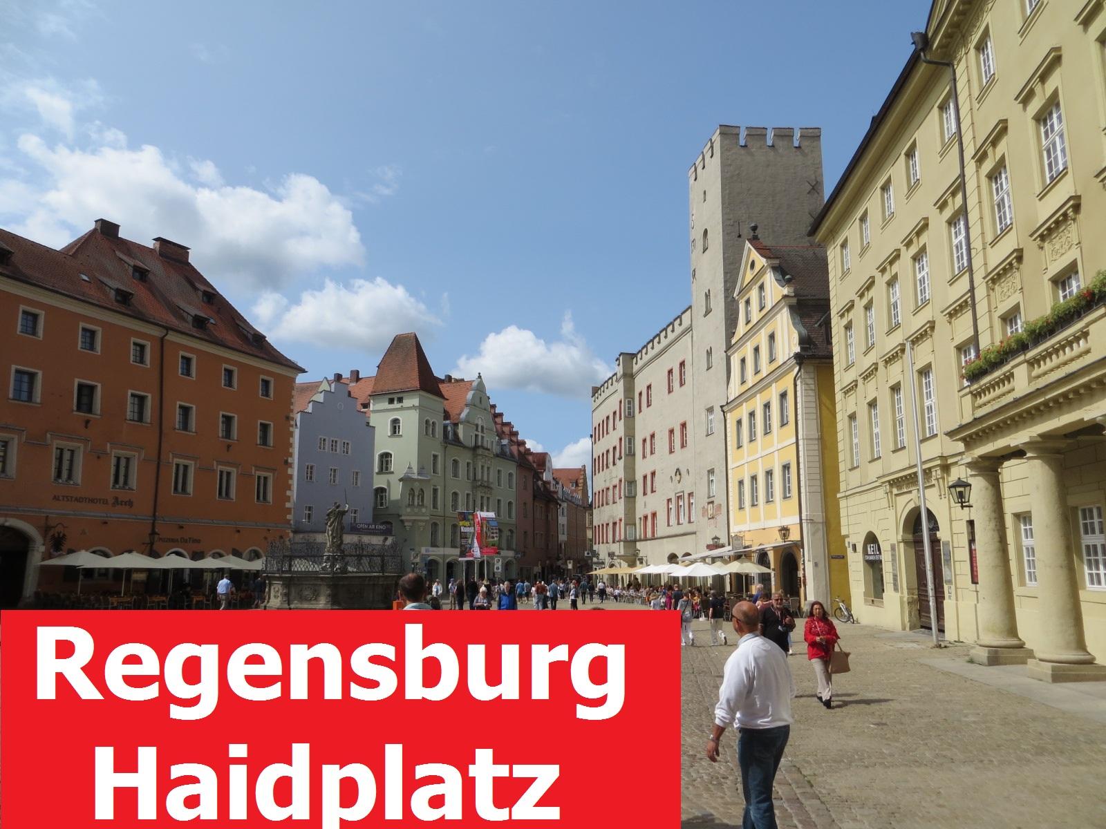 Регенсбург. Площадь Хайдплатц - Haidplatz. Аудиогид на немецком языке