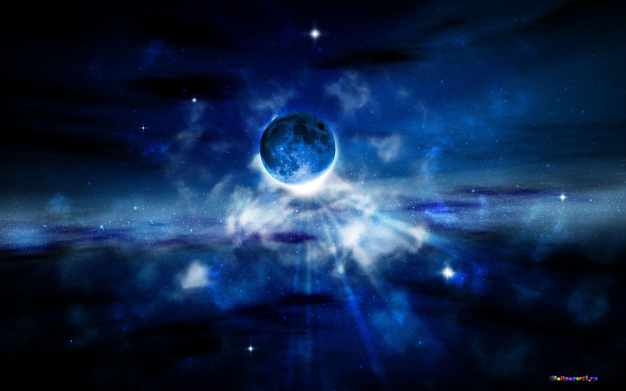 Обои Планеты синие картинки на рабочий стол на тему Космос - скачать  № 1765882 без смс
