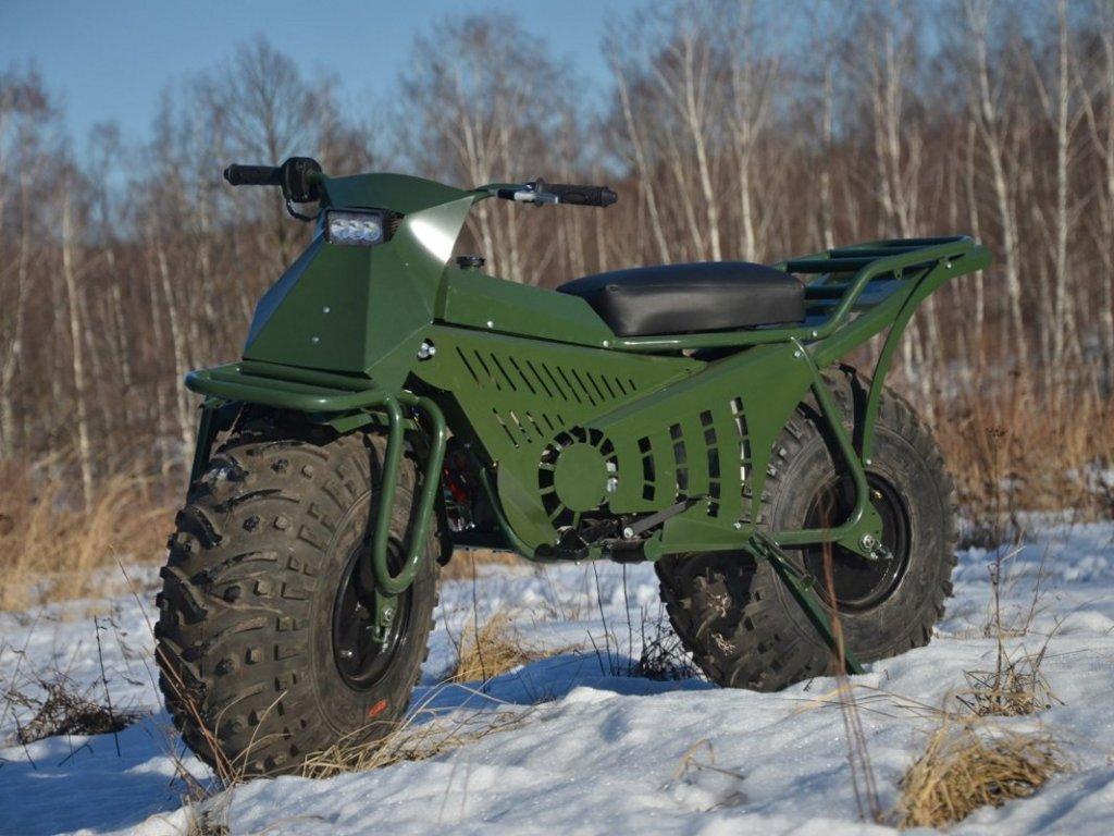 Мотоцикл-вездеход для охоты на уток