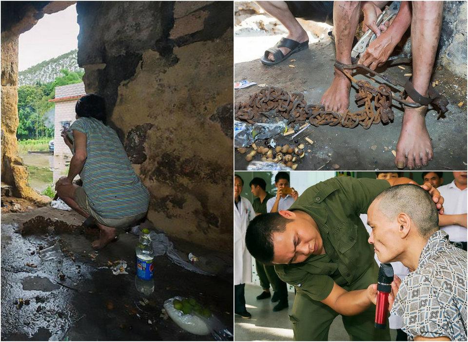 Психически больного китайца держали 17 лет на цепи в сарае
