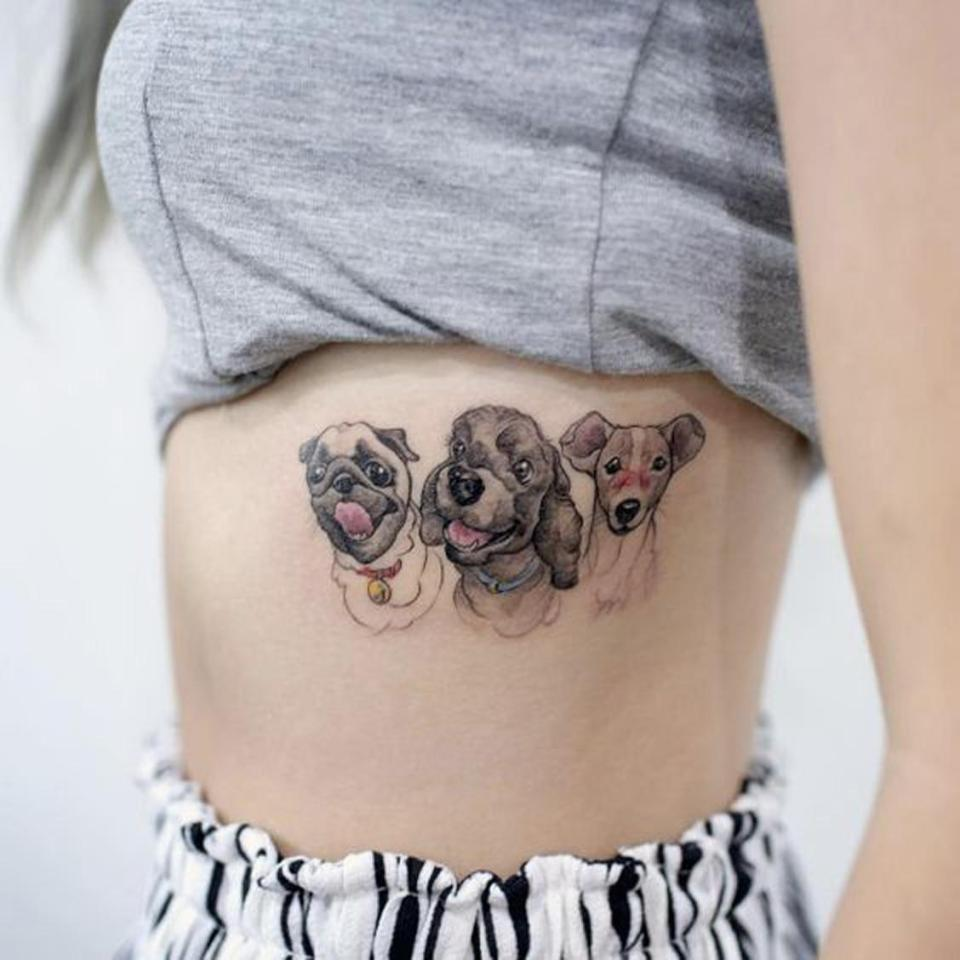 Владельцы собак делают татуировки с мордами своих любимцев