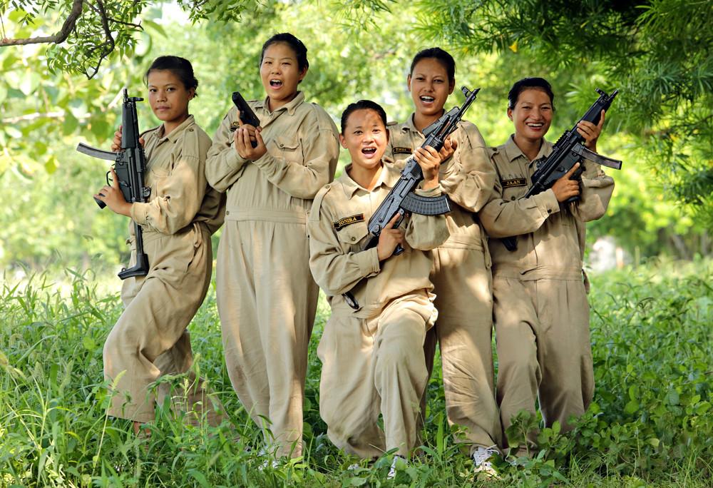 Женщины-коммандос в Индии