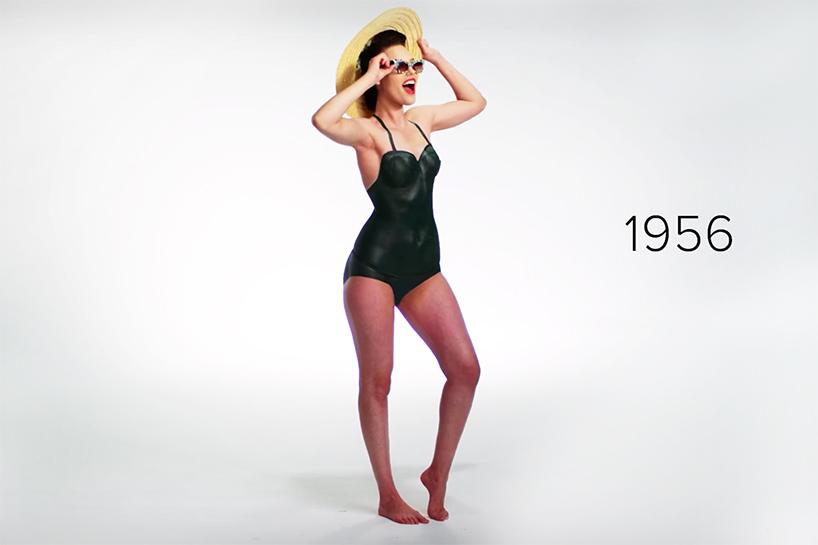 История купальных костюмов за 100 лет через боди-арт