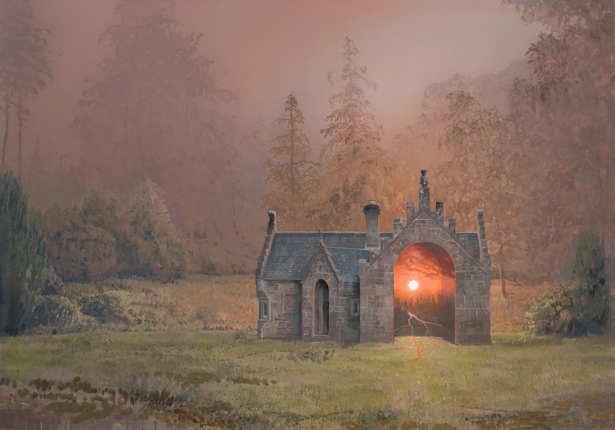 Vibrant Sunsets Hover Inside Abandoned Scottish Castles and Homes by Andrew McIntosh (8 pics)