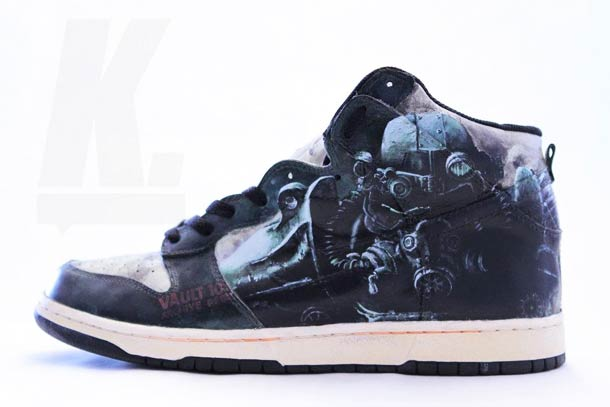 "Fallout ""Vault Dweller"" – Custom Sneakers for Post-Apocalypse"