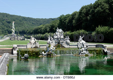 View fountain Ceres at Royal Palace or Reggia di Caserta Italy fountain Ceres consists statues of.jpg