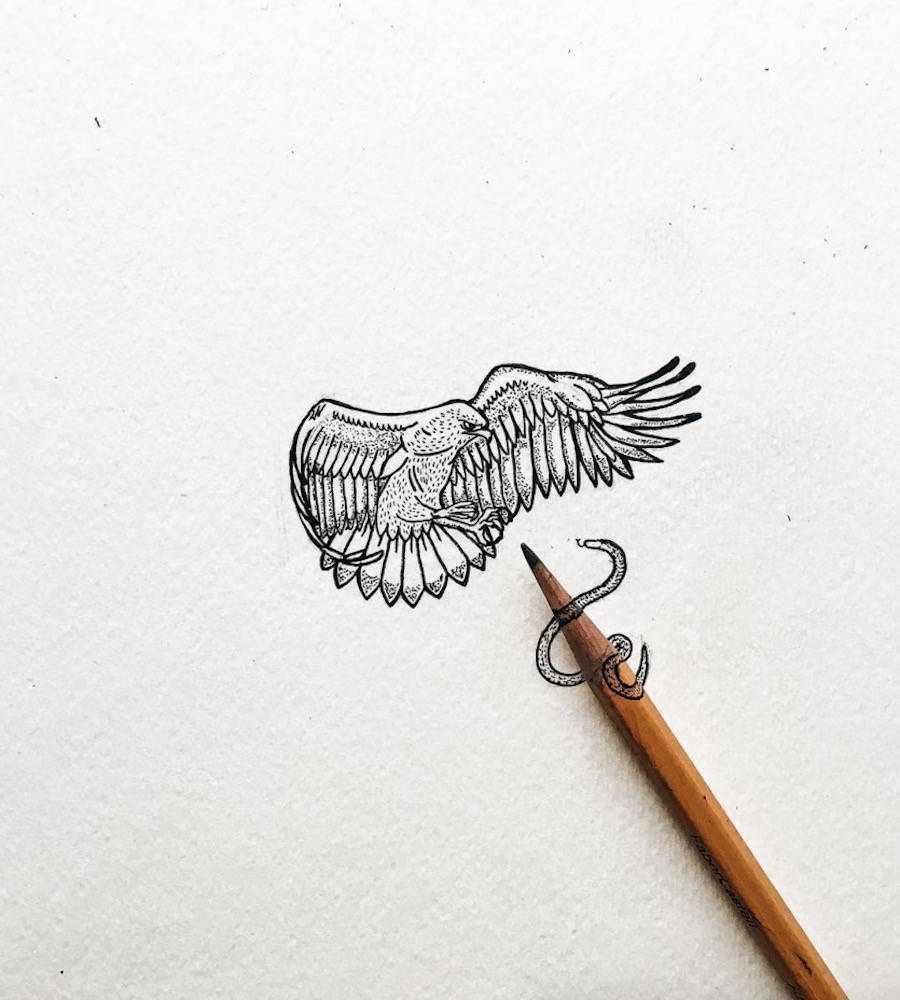 Tiny Illustrations That Get Out of Pencil Tips