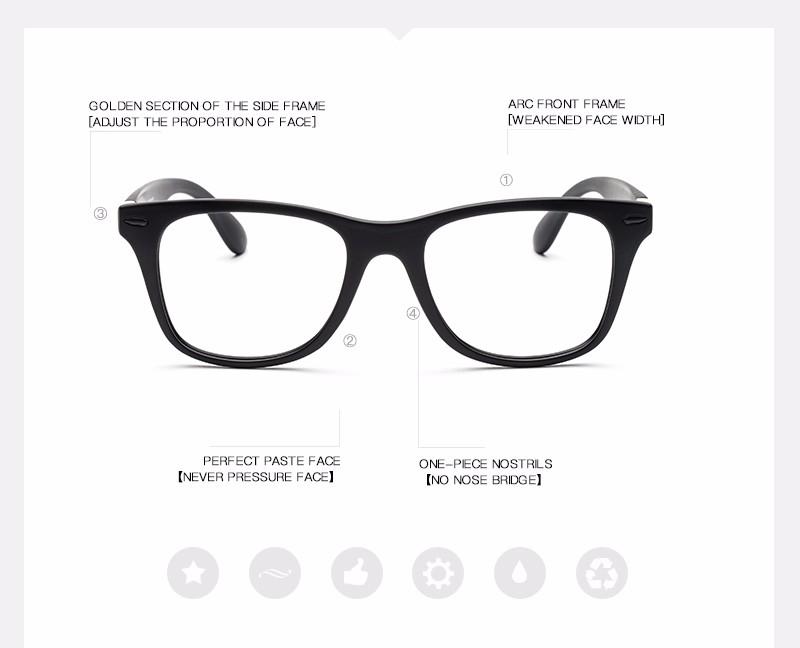 Donna Classic Rivet Glasses Black Frame Retro Reading Glass Frame ...
