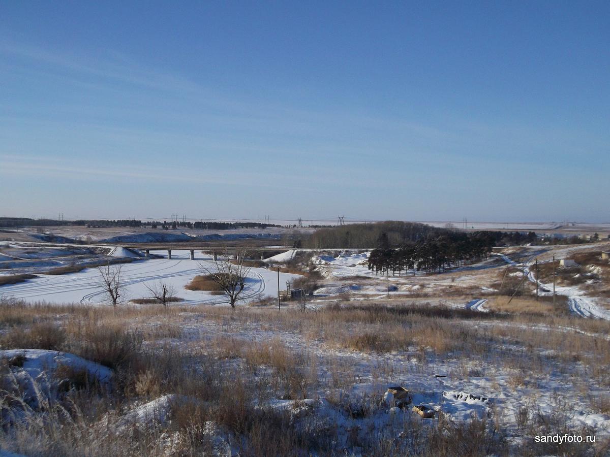 Вид на мост через реку Уй