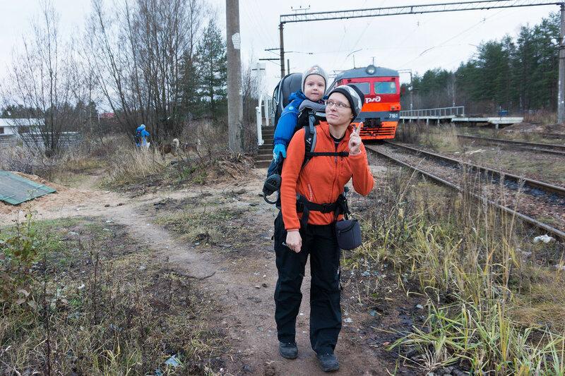 старт пешего похода на станции поселок в вырица