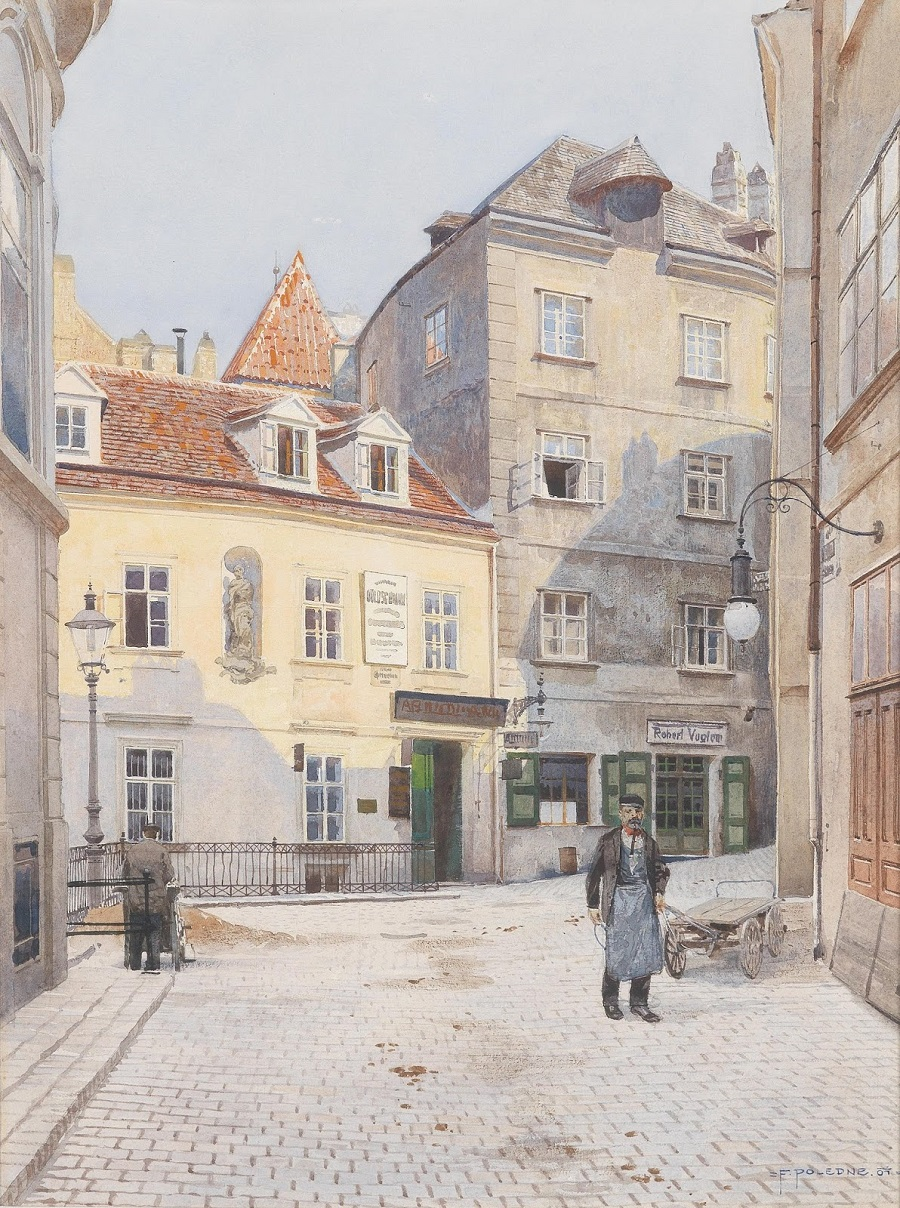Look at the Griechengasse , 1907.
