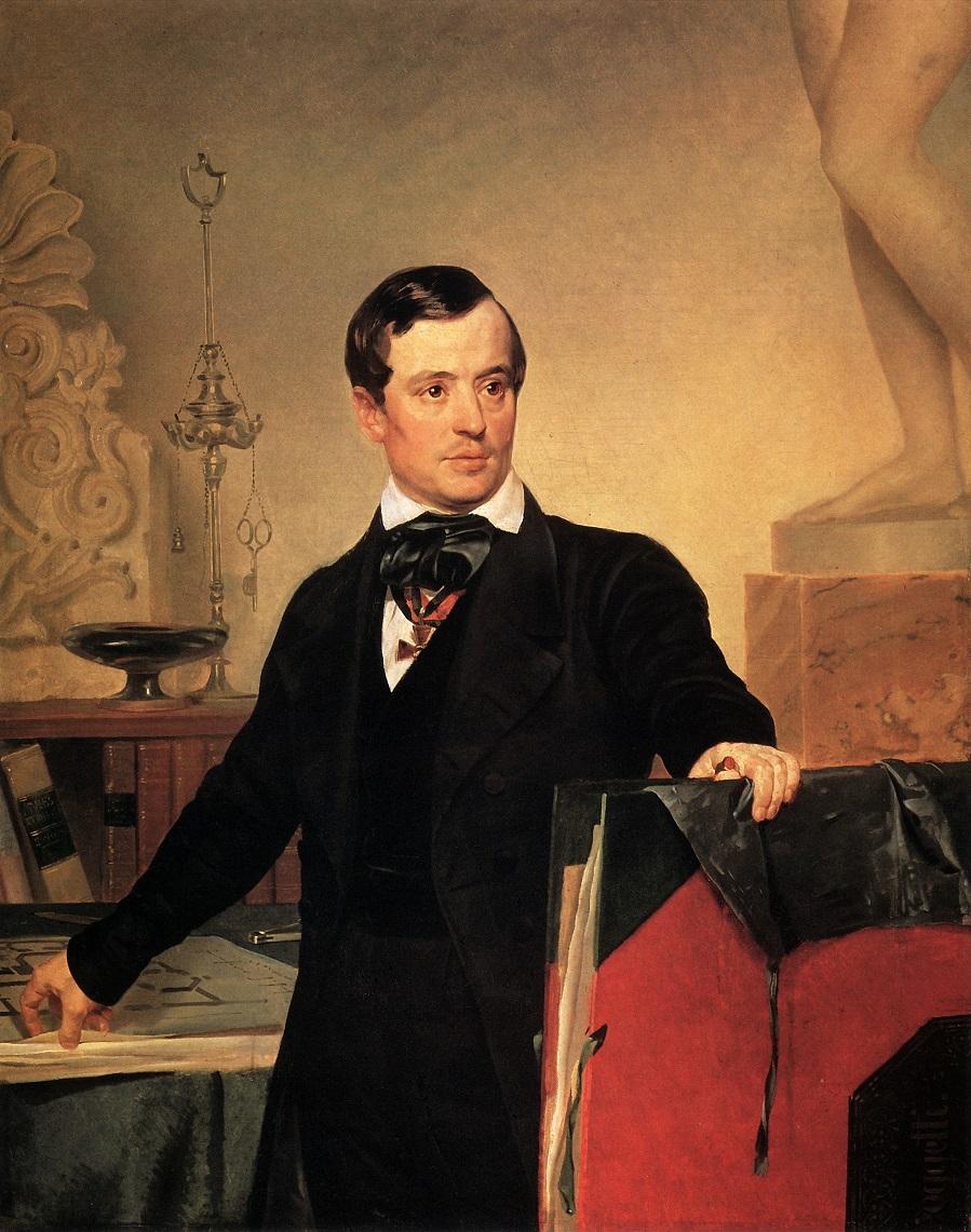 Портрет архитектора и художника А.П.Брюллова. Не позднее 1841 Государственный Русский музей, С.-Петербург