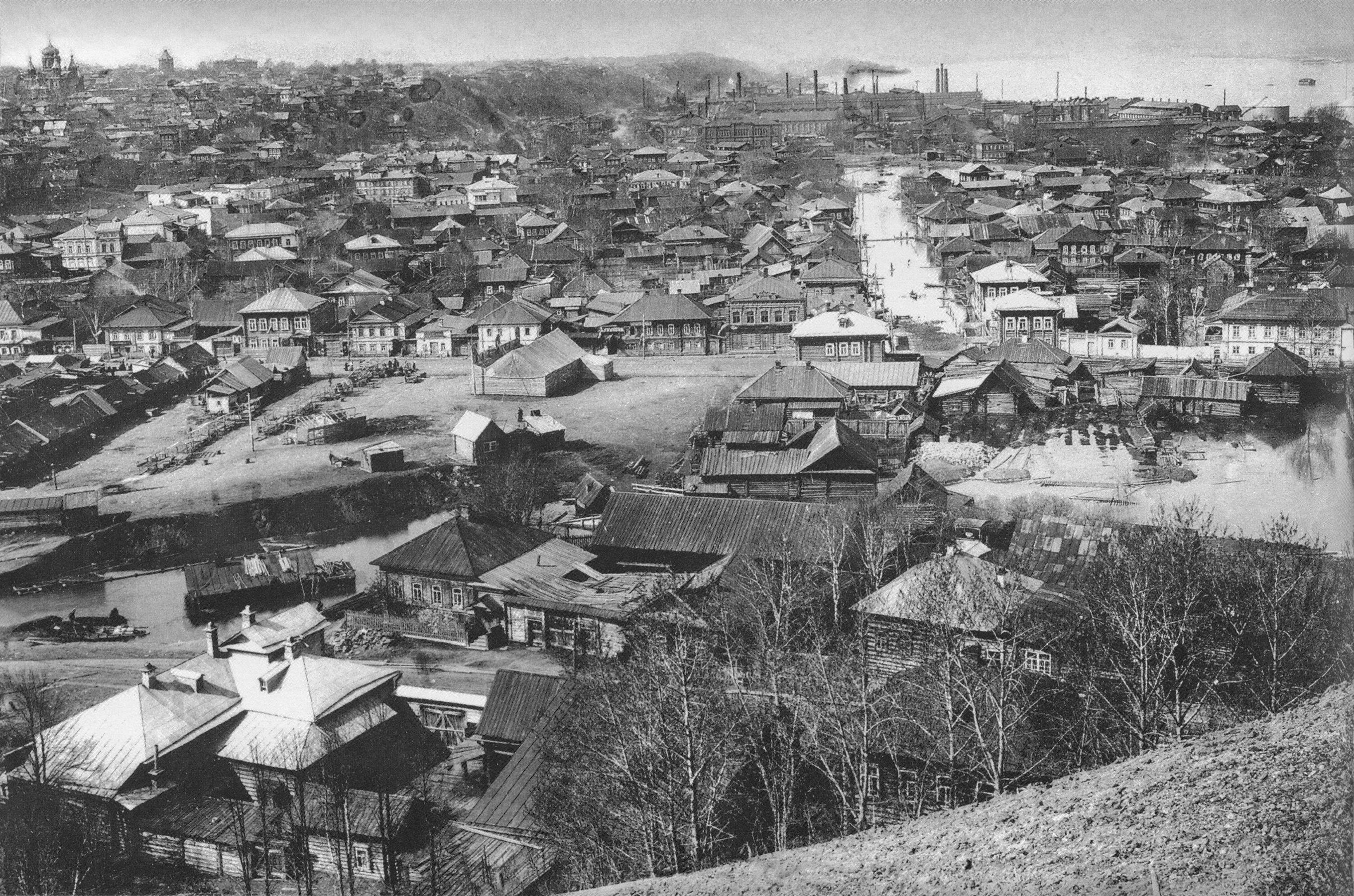 Панорама Мотовилихи с горы Вышка