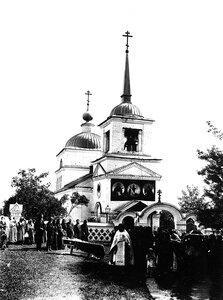 Окрестности Богородского.  Село Шапкино. Церковь в честь Казанской иконы Божией Матери