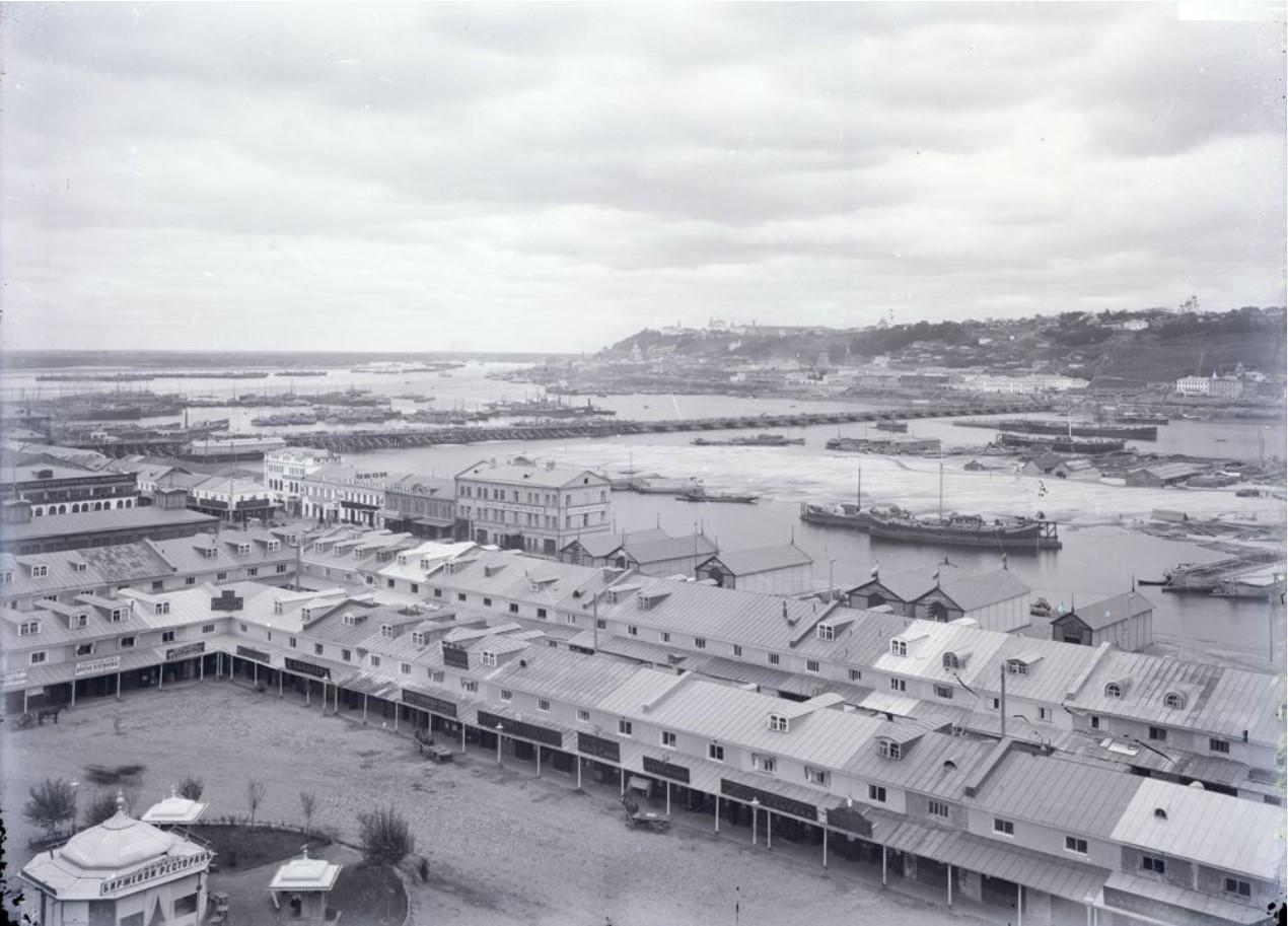 Общий вид верхней части города и ярмарки