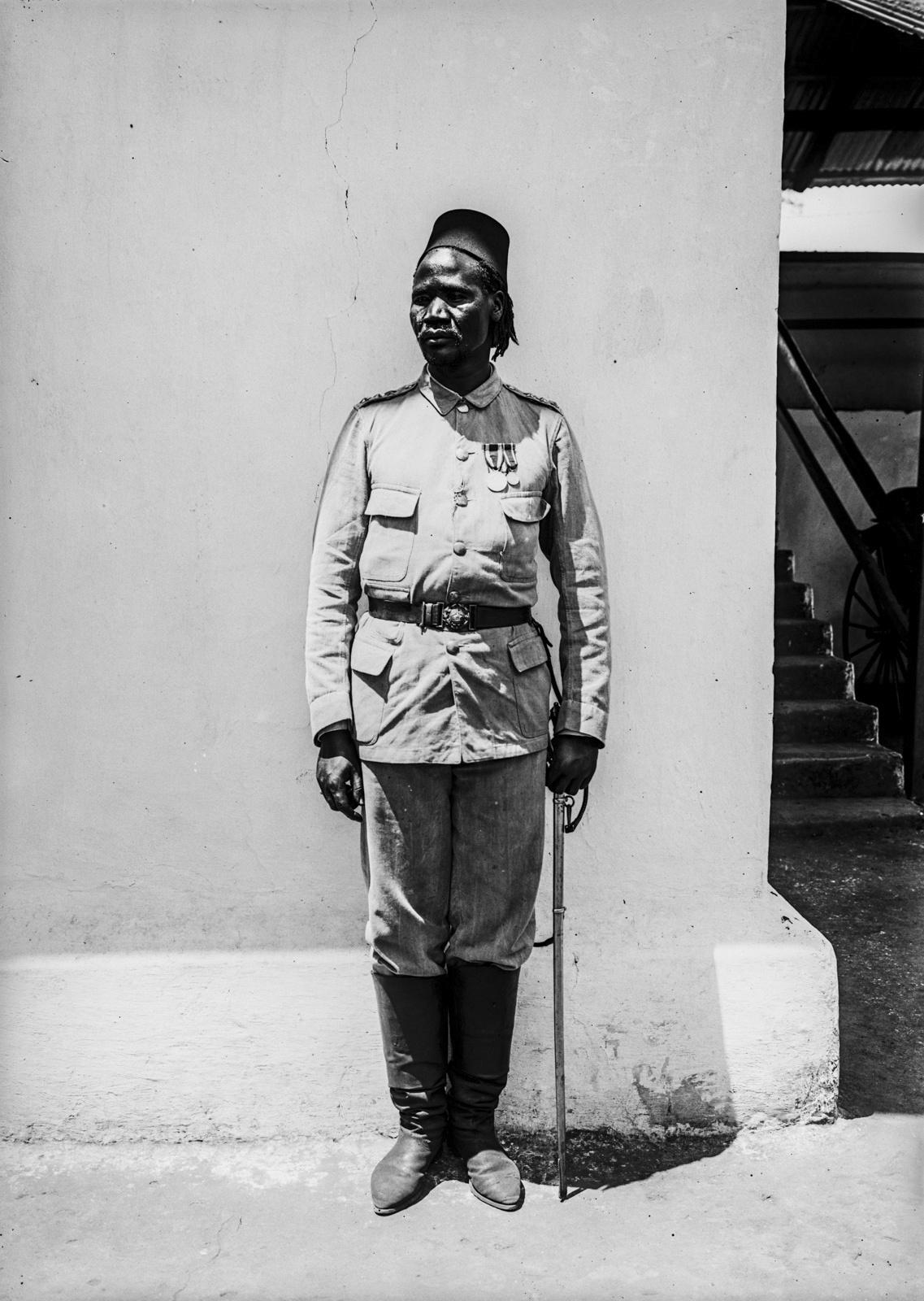 86. Портрет солдата немецких колониальных войск