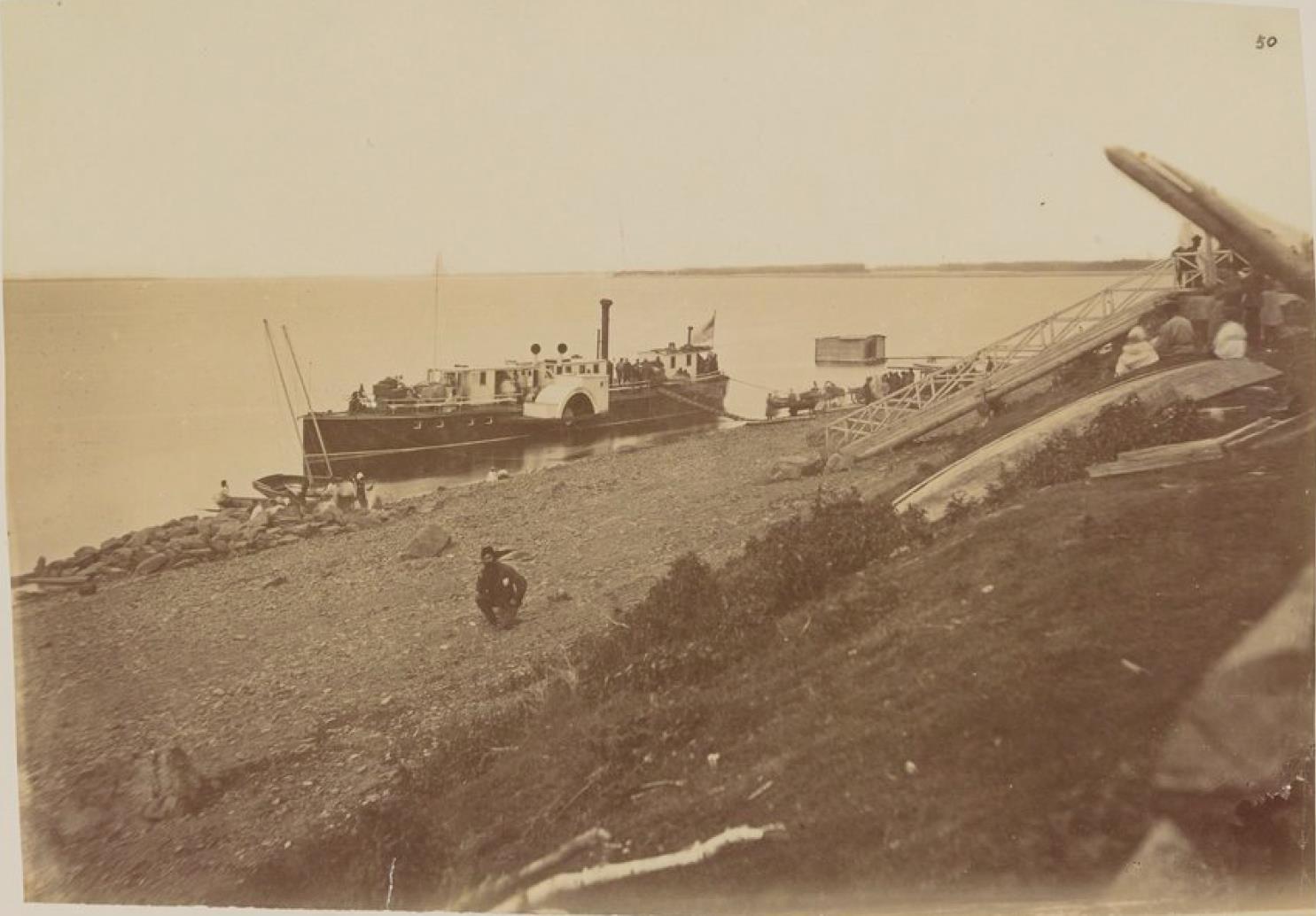Лодочная пристань возле Софийска