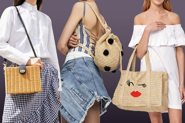 с чем носить плетенные сумки