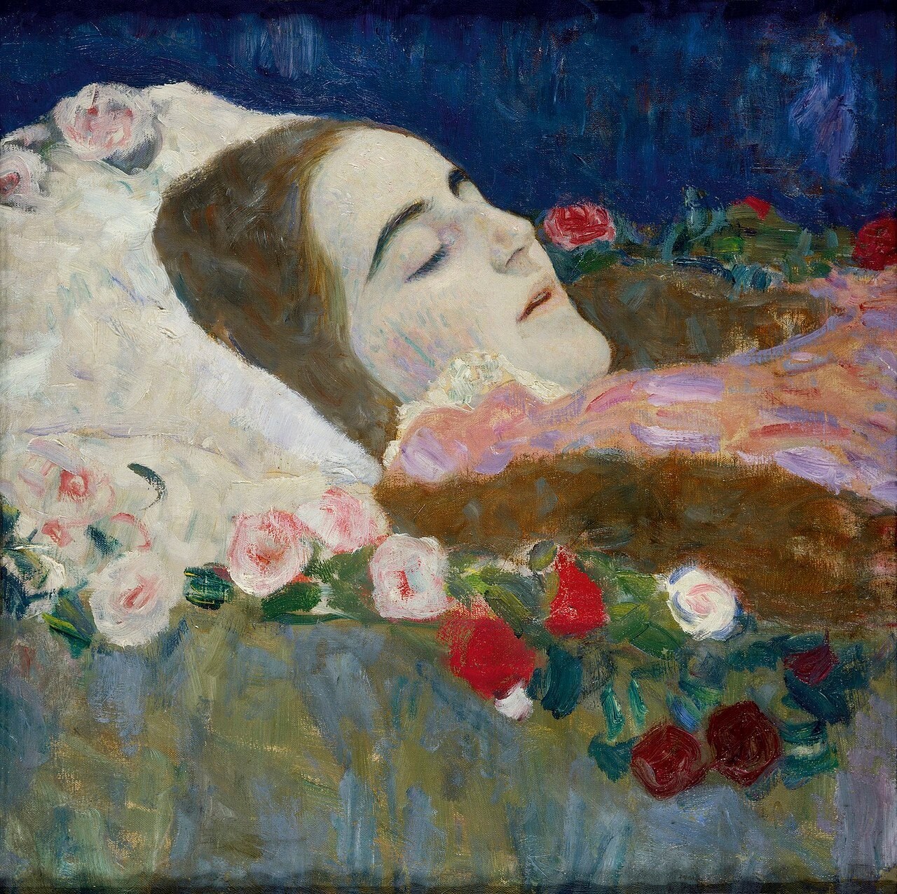 Ria Munk on her Deathbed, 1912
