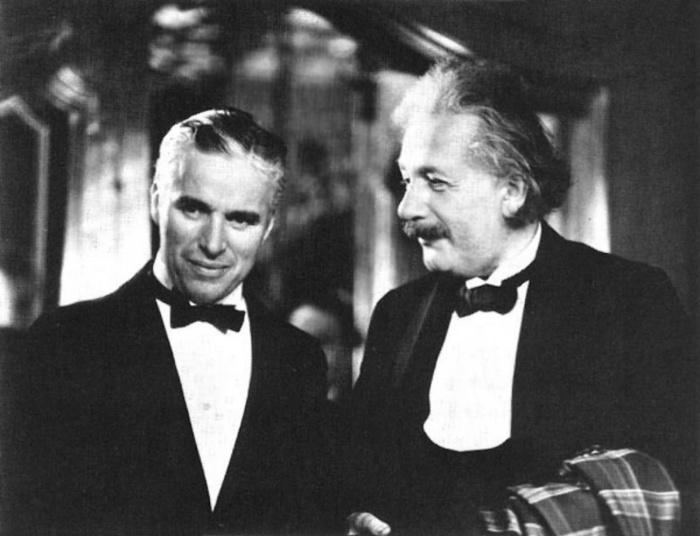 Чарли Чаплин и Альберт Эйнштейн.   Американские знаменитости