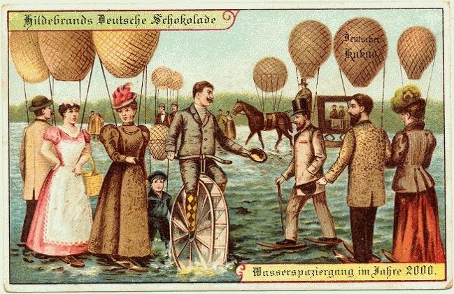 Посмотрите, как представляли себе наше время люди 100 лет назад (22 фото)