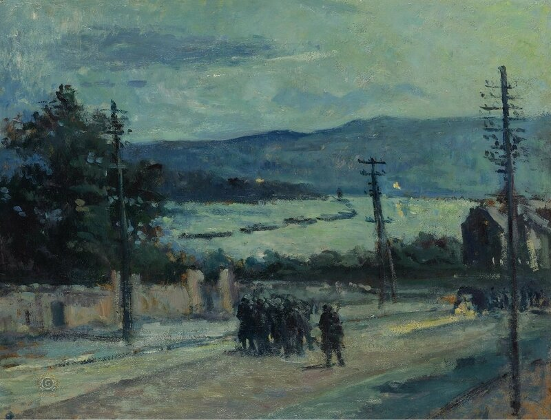 Люс, Максимильен - Rolleboise, the Road, 1917