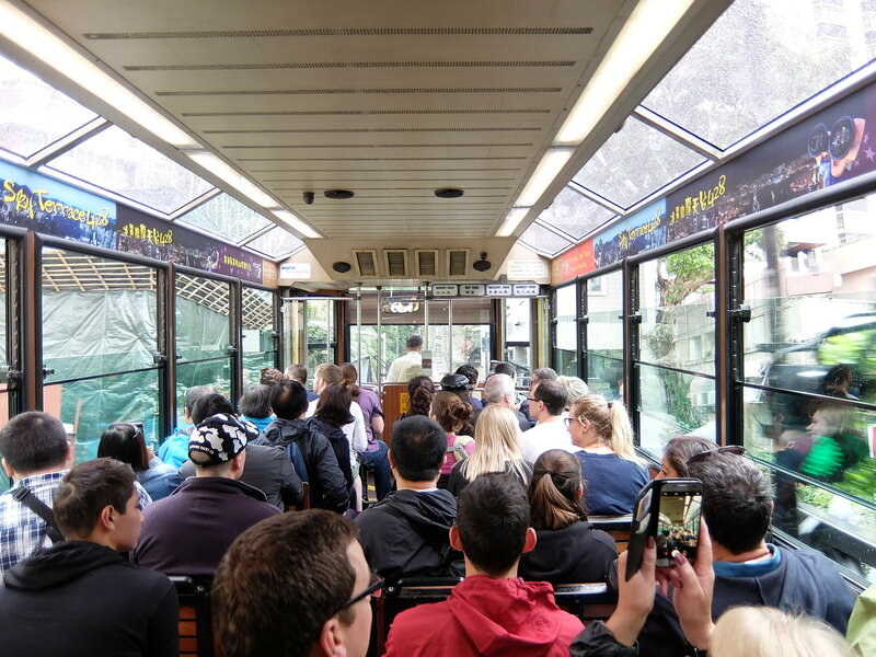 Гонконг - Peak Tram изнутри