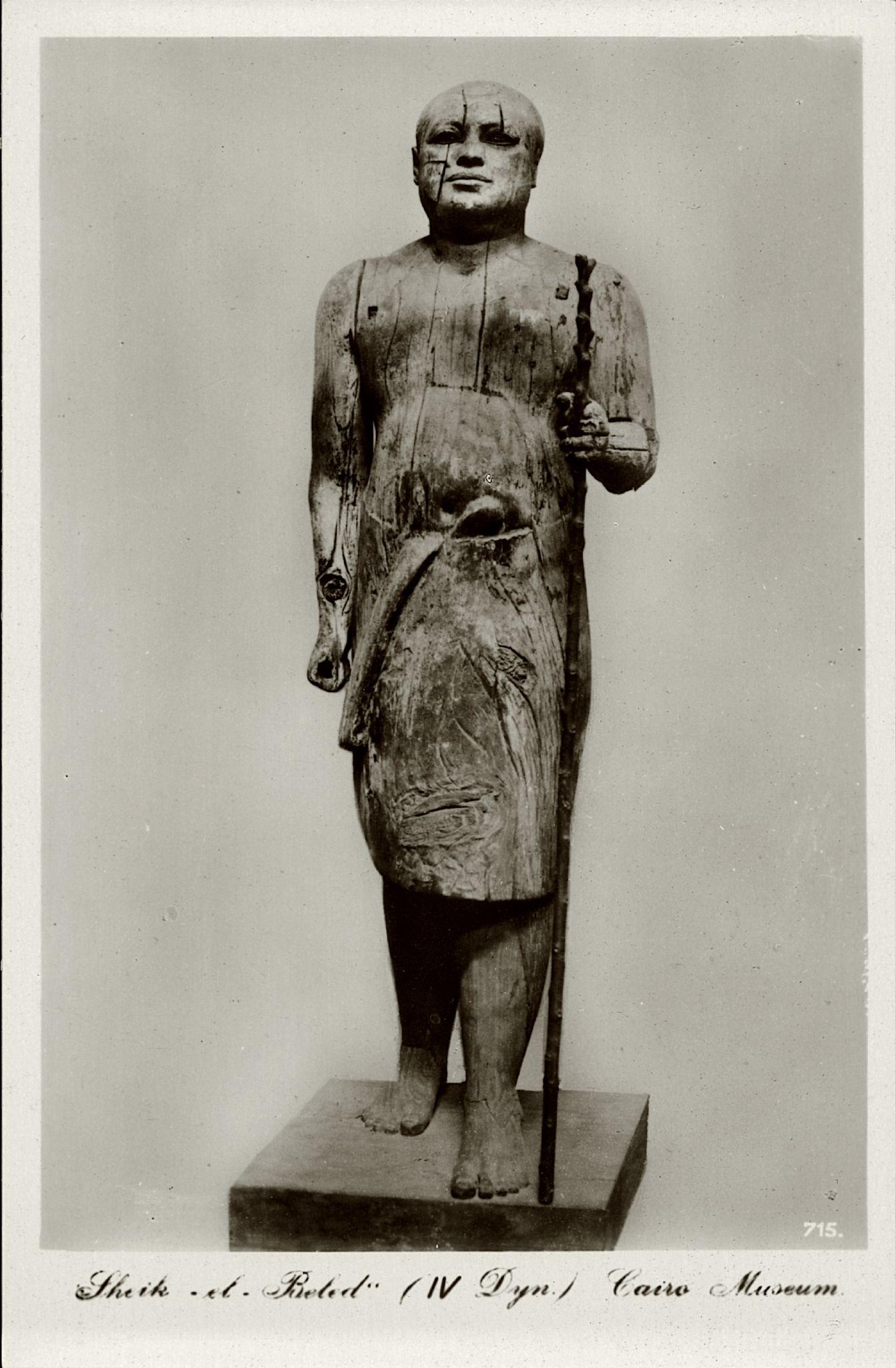 «Сельский староста» (статуя Ка-Апера — Шейх эль Беледа, IV династия)