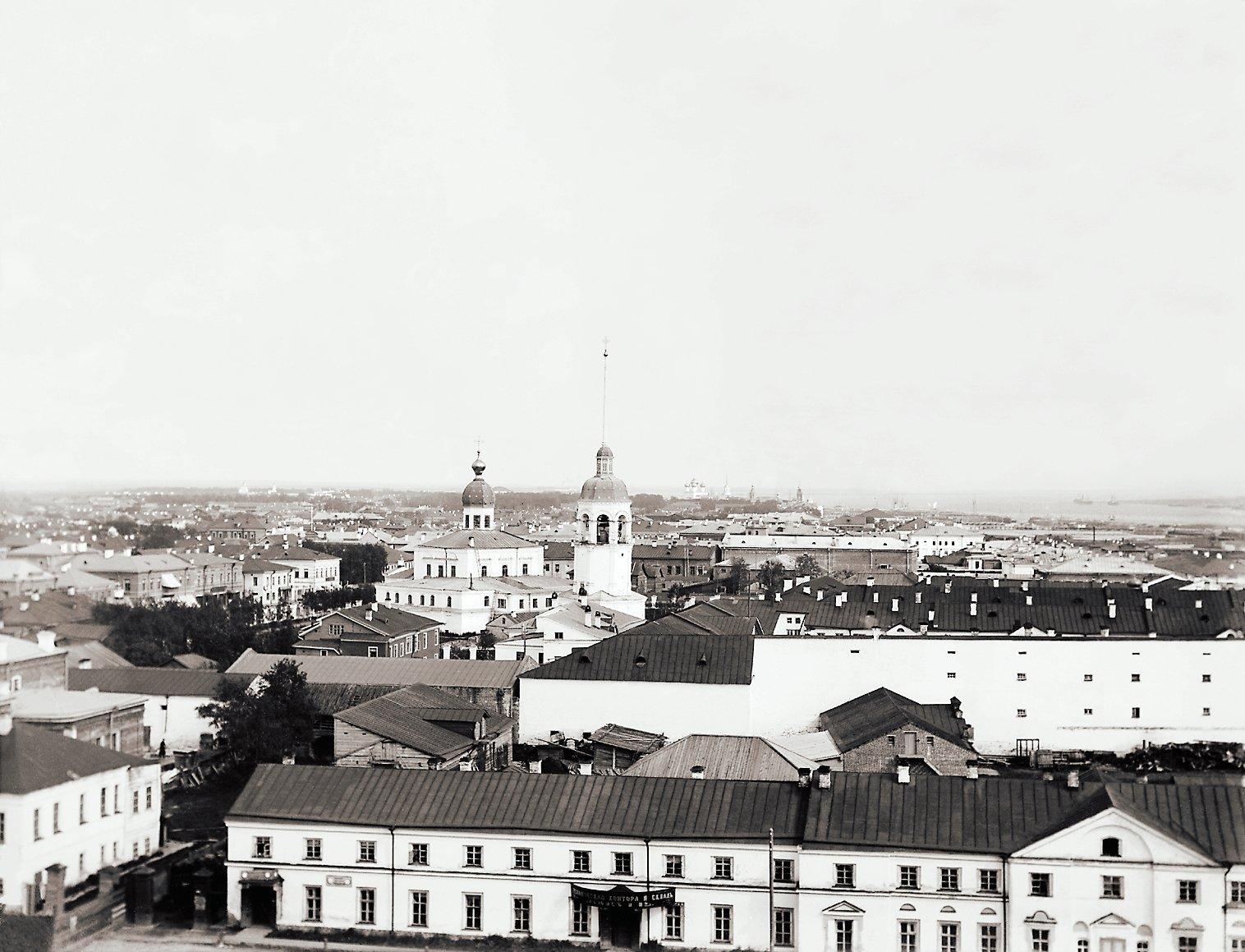 Вид на юго-восток с колокольни Троицкого собора