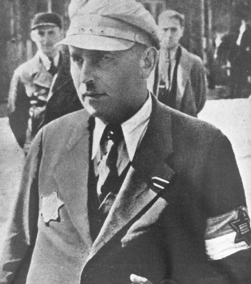 Romek Kaliski, member of the Jewish ghetto police in the Lodz ghetto..jpg