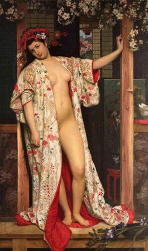 James Tissot ( 1836 — 902) Японская баня