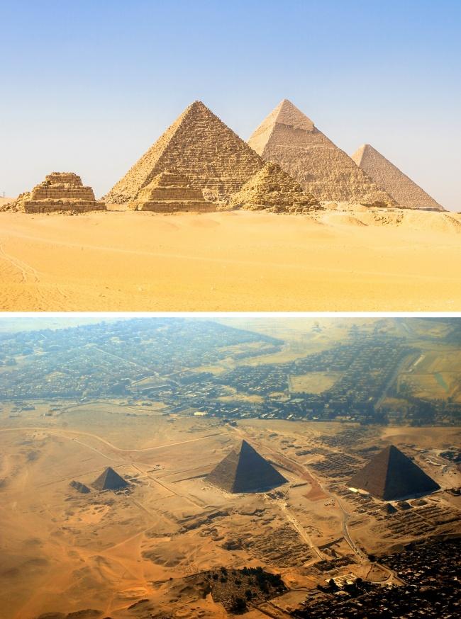 © depositphotos  © wikipedia     Представляя себе египетские пирамиды покнигам иф