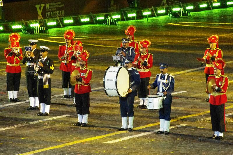 Сводный военный оркестр трех видов Вооруженных сил Индии