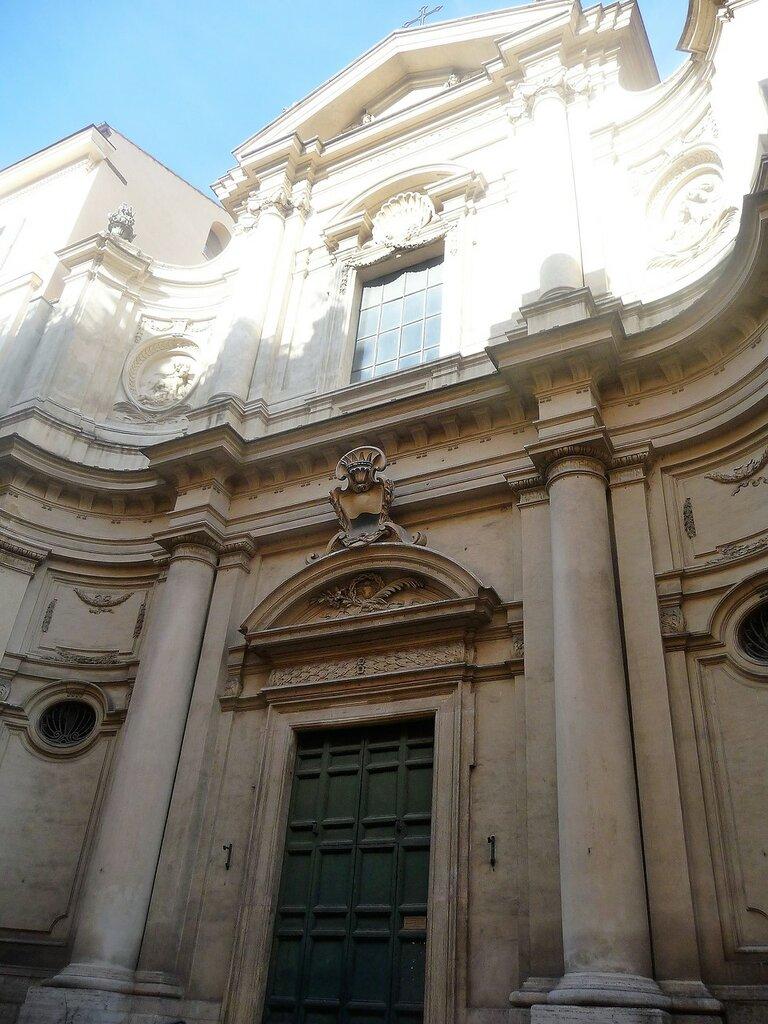 Via Giulia. Церковь Santa Caterina da Siena.