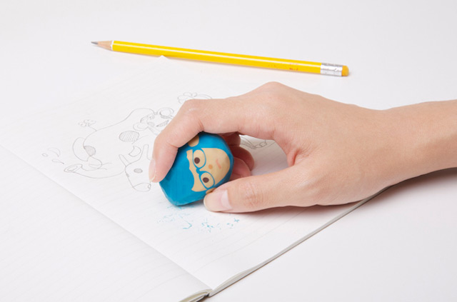Designed by Chen Lu Wei for Megawing this fun set of four erasers lets you assume the role of barber