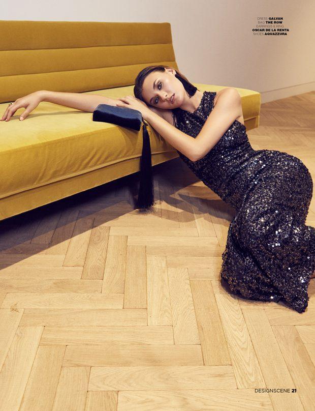 Bring out the classically glamorous  style  with this sequin-embellished column gown from Galvan. It