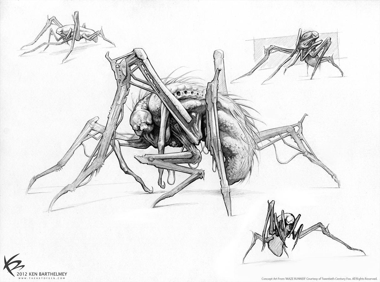 The Maze Runner Concept Art by Ken Barthelmey