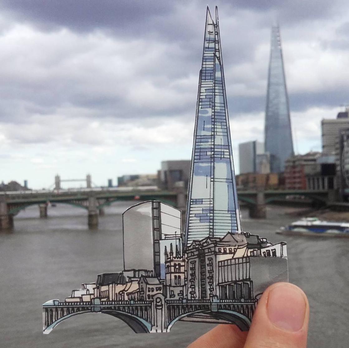 Il rend hommage aux pubs iconiques de Londres avec d'adorables illustrations