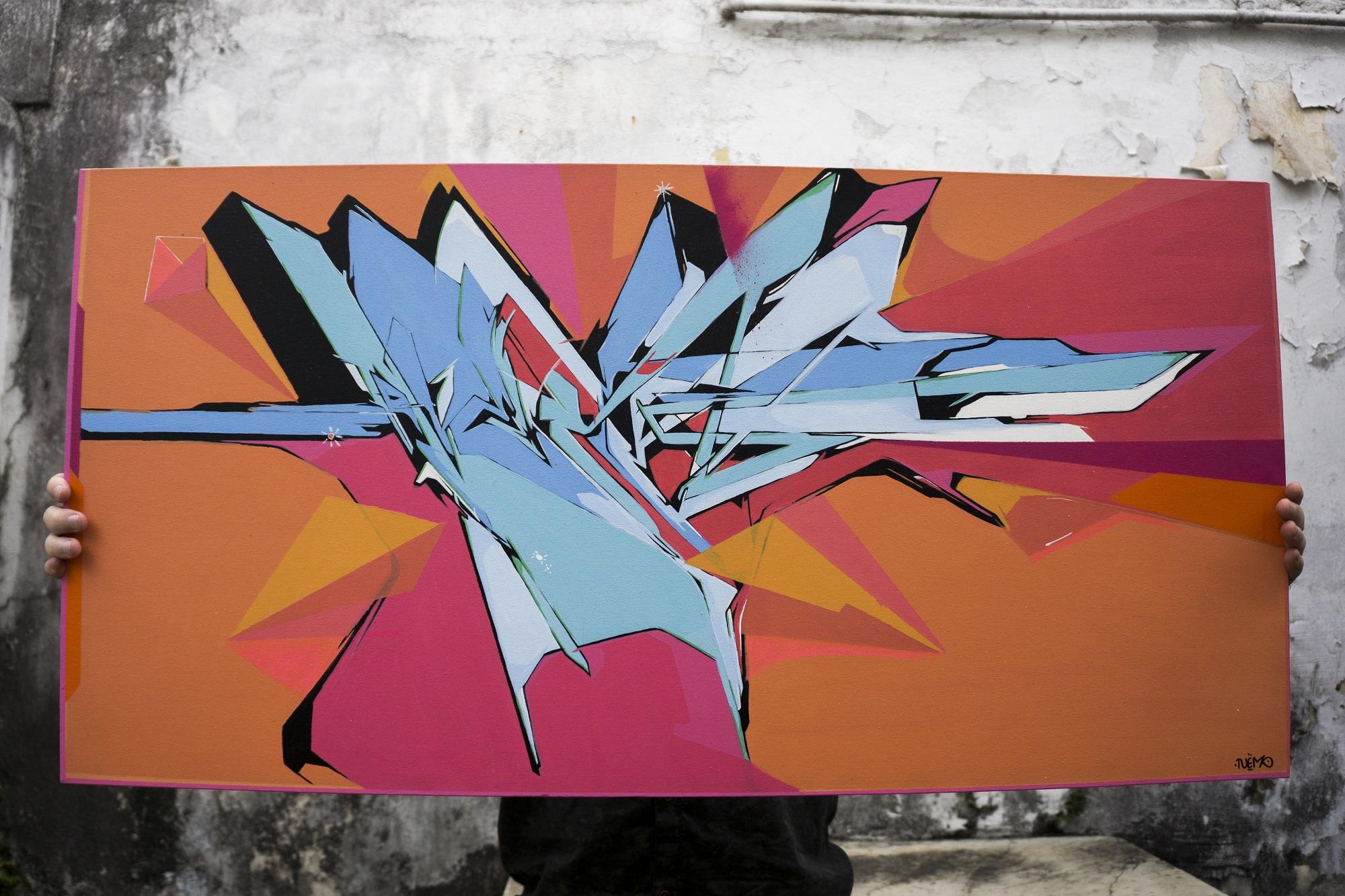 Caligrafia urbana domina galeria de arte